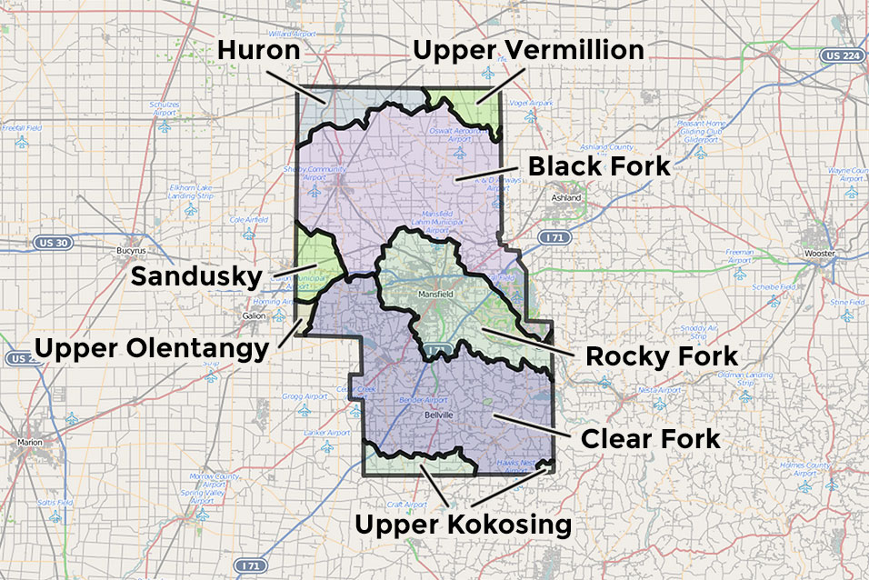 Watersheds of Richland County, Ohio