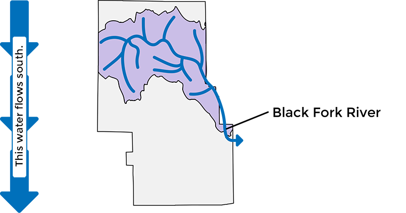 Map showing the Black Fork Watershed